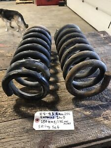 1989-1993 DODGE RAM 250 1ST GEN CUMMINS 2WD FRONT SUSPENSION COIL SPRINGS COILS