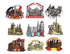 Fridge Magnet Paris Rome Venice Barcelona Amsterdam Prague NewYork Dubai London