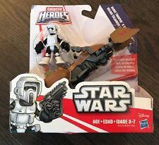 Star Wars Galactic Heroes SCOUT TROOPER WITH SPEEDER BIKE New Playskool