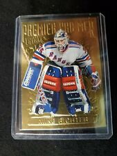 1994 MIKE RICHTER / NHL Fleer Ultra Hockey Insert Trading Card New York Rangers