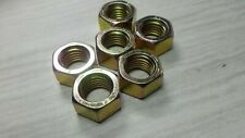 """6 Hex Nuts 7/8"""" - 9 Zinc Dichromate Grade 8 Coarse Thread"""