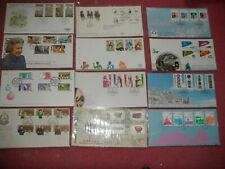 12 different HONG KONG  FDC STAMPS QEII from 1980 - 90's Cat by SG £100+