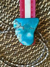 Turquoise Colored Lace Agate Bolo Tie