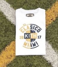 Kith x El Clasico Box Logo T-Shirt White Gold NWT Sz XL Bogo Supreme Off White