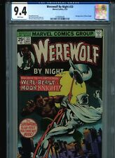 Werewolf By Night #33 CGC 9.4 (1975) Second 2nd Moon Knight White Pages
