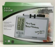 (New) Taylor 4 Event Kitchen Timer with Whiteboard and Clock