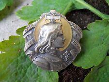 Ancienne broche Jeanne d'Arc 1431-1909 Dieu Patrie