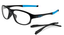 Authentic OAKLEY CROSSLINK STRIKE ASIA FIT 8067-01 Eyeglasses Black *NEW*  56mm