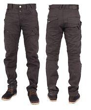 New Mens ETO Branded Designer Slate Grey Tapered Jeans Pants Waist Size 28-42
