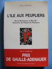Pierre Grappin L'Île aux Peupliers Résistance à Mai 68 Ed. des PUN 1993 Envoi