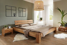 Bett Doppelbett Campo 160x200 cm Wildeiche Baumkante VORRÄTIG!!!