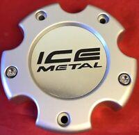 ONE USED ICE METAL CUSTOM SLIVER RIM WHEELS CENTER CAP M-735 S1010-07 CAP 4428