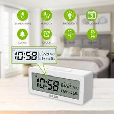 BALDR B0337 Alarm Clock Digital Big LCD Screen Display Time Temperature Humidit