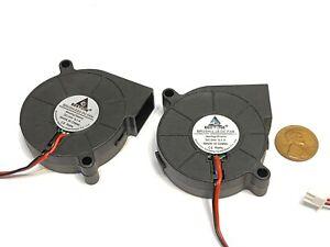 2 Pieces Gdstime DC 3d Printer  Blower Fan 5015 50MM x 15mm 5cm 24V 2Pin C48
