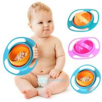 Toddler Gyro Bowl Non Spill Feeding 360 Rotating Baby Kids Avoid Spilling Dishes