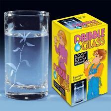 DELUXE DRIBBLE JOKE GLASS dripping drink bar glasses GAG novelties PRANKS GAGS
