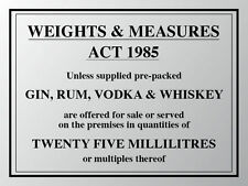 WEIGHTS & MEASURES PUB SIGN: HOME BAR: MAN CAVE: HOTEL:PUB: METAL SIGN