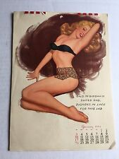 Nice 1954 Full Year 12 Month Pin Up Girl Calendar by Thompson w/ Marilyn Monroe