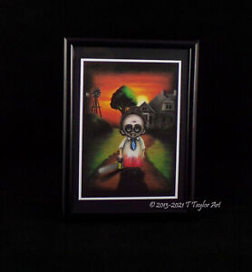 The Texas Chainsaw Massacre Cute Horror Art Quality Print of Hand Drawn Picture