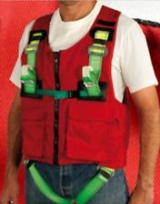 SAFETY RED ADJUSTABFALL ARREST HARNESS WITH NON DETACHABLE VEST, 2 ANCHOR POINTS