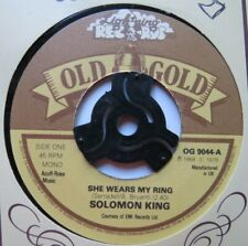 """SOLOMON KING - She Wears My Ring - Excellent Con 7"""" Single Old Gold OG 9044"""