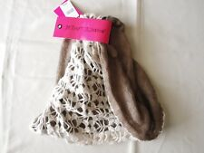 Betsey Johnson Ivory Lace Snood Scarf New $46