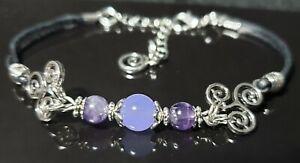 Amethyst Alexandrite Triskele Confidence Success Bracelet Pagan Wicca Jewellery