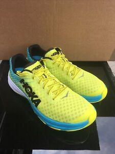 Hoka One One Evo Carbon Rocket Running Shoes - Citrus/Cyan UK Size 8