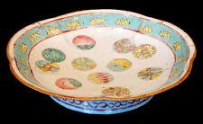 Antique CHINESE Porcelain China HAND-PAINTED ENAMEL BOWL Tongzhi Guangxu Mark