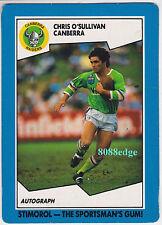 1989 SCANLENS/STIMOROL RUGBY LEAGUE: CHRIS O'SULLIVAN #39 CANBERRA RAIDERS (b)