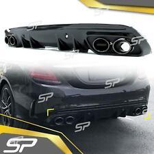 C43 AMG Heck Diffusor + Auspuffblenden für Mercedes Benz W205 S205 AMG Line ab14