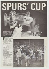 TOTTENHAM HOTSPUR V CHELSEA FA CUP 1967 ORIG AUTOGRAPHED BOOK PAGES 16 X SIGS