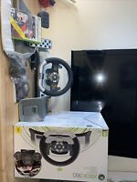 xbox 360 wireless racing wheel Pedals Boxed Includes Game Fully Working Free P&p