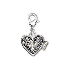 Silver Plated Heart Prayer Box Pendant Locket 16MM