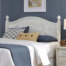 Queen Full Wood Wicker Headboard Nightstand Bedroom Bedding Home Furniture SALE