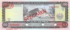 El Salvador  100  Colones  11.5.1978  P 122as  Series HZ  Uncirculated Banknote