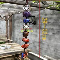 Natural 7 Chakra Hanging Decoration Reiki Irregular Healing Crystal Tassel WW58