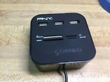 PNY* USB 2.0 Hub Combo All In One Multi Card Reader With 3 Ports For MMC/M2/MS