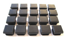 """20 - 1"""" Square Tubing Black Plastic Plug 1 Inch Sq End Caps 1""""x1""""  1x1 Post Tube"""