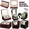 Wooden Automatic Rotating Watch Winder Wristwatch Storage Display Box Show Box