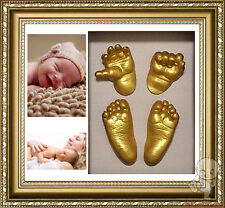 Baby Keepsake 100% Safe DIY 3D Casting Kit & Shadowbox photo frame  D