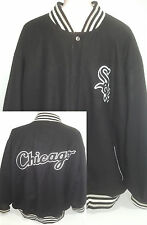 Vtg Chicago White Sox Mens Sz 3XL- 4XL MLB Baseball Letterman Coat Jacket Black
