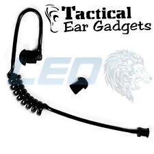 Tactical Ear Gadgets Black Acoustic Coiled Tube For Hawk Lapel Mic Cougar Fox