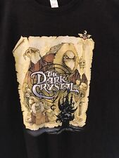 Dark Crystal Movie Poster T Shirt XL Jim Henson Retro Fantasy Film Black