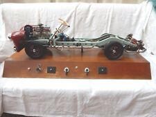 Rare vintage HÖHM auto driving school model / cutaway visible engine chassis
