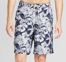 Mens Board Shorts Swim Shorts Trunks 32 34 Swimsuit Navy White Medium NWT