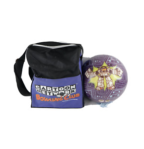 Vintage Cartoon Network Dexter's Laboratory Bowling Ball and Carrying Bag USA
