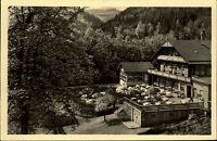 Schweizerhaus bei Tabarz Thüringer Wald DDR s/w AK 1955 Pensionshaus und  Hotel