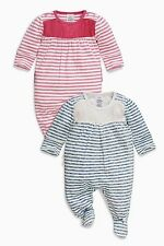 ВNWT NEXT Babygrows Playsuits • Navy Stripe Sleepsuits • 100% Cotton • 3-6 Month