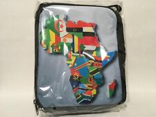 Kids Insulated Lunch Box/Bag African Flags w/ Free Flag Key